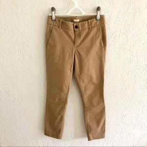 J.Crew Frankie Stretch Chino Skinny Pants Khaki 2